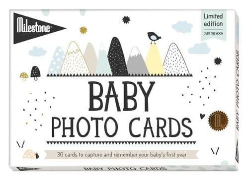 Over the Moon Baby Cards by Milestone