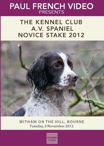 2012 The Kennel Club AV Spaniel Novice Stake