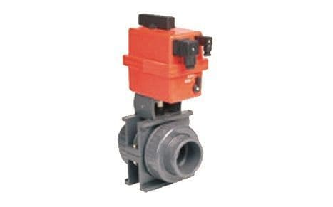 40mm Pneumatically Actuated Double Union Ball Valve