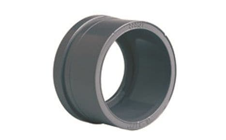 90mm - PVCu Union End, Plain