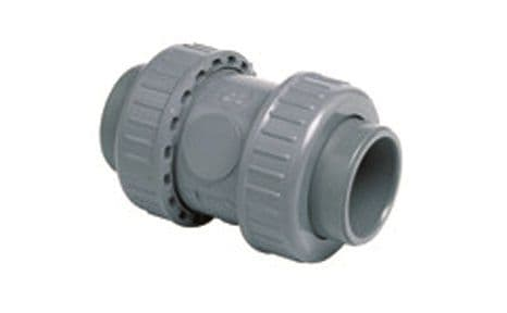 ABS Check Valve - Stainless Steel Spring (metric)