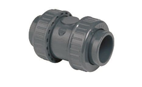 Check Valve - PFTE coated spring, FPM Seals (metric)