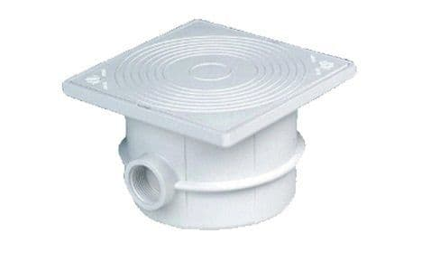 Connection box with Security cover, White