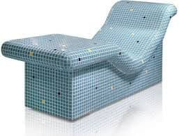 Heated Tiled Lounger - Water or Electrically heated