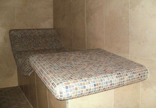 Heated Tiled Loungers - Incorporated to suit the surrounding area