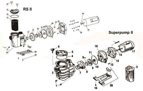 Superpump 2 & RS2 - Housing Cap Screw