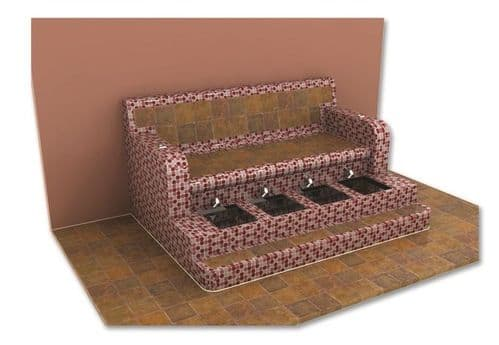 Tiled Footspa - Differing Styles, Shapes & Colours