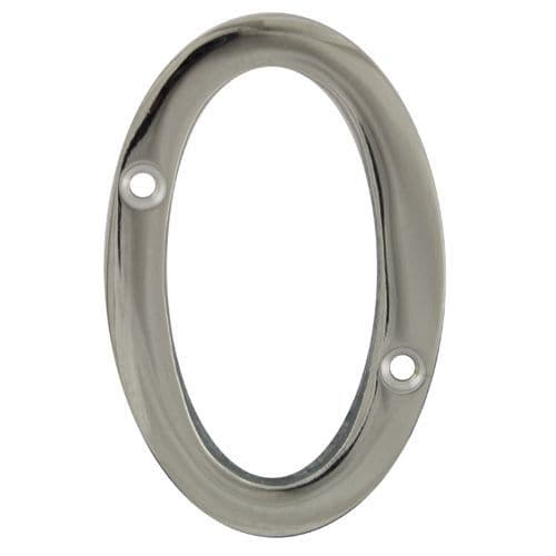 Face Fix Door Numerals - Polished Chrome