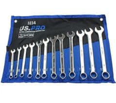12pc Metric Combination Spanner Set  8mm to 19mm US PRO 3234