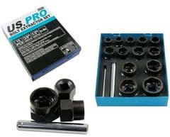 15pc Bolt Extractor Set 9mm to 27mm US PRO 2606