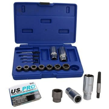 17pc Screw Stud And Nut Extractor Set US PRO 2649