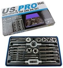 23pc Whitworth Tap And Die Set BSW 1/8