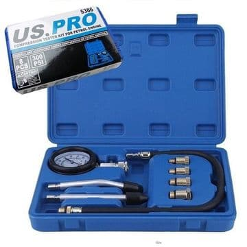 8pc Petrol Engine Compression Tester US PRO 5386