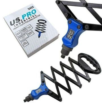 Lazy Tong Folding Riveter For Alloy And Steel Rivets US PRO INDUSTRIAL 5455