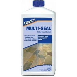 Lithofin Multiseal 1L sealer for stone, slate, etc forms hard wearing sheen