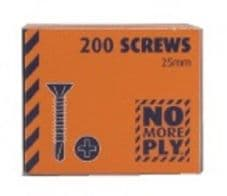 NO MORE PLY-25mm Screws for 6mm no more ply boasrds