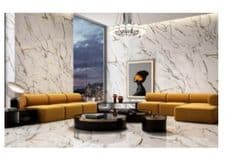 Oikos Gold Polished Marble Effect Porcelain Floor Tile 600x600 x 10mm x 3=1.08m2