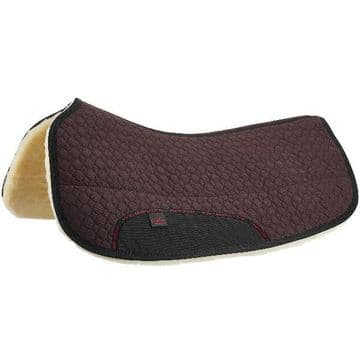 Christ Lammfelle Rounded Western Saddle Pad - Black or Brown