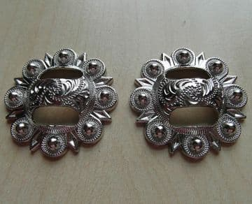Silver Concho with Slot 1 1/4 inch - (Pair)