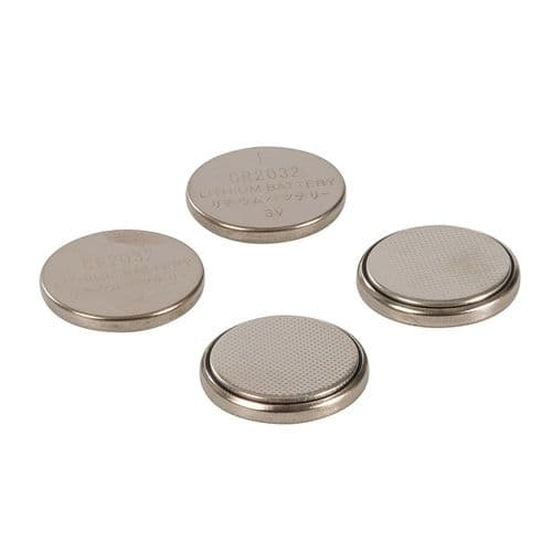 Powermaster 675789 Lithium Button Cell Battery CR2032 4 Pack