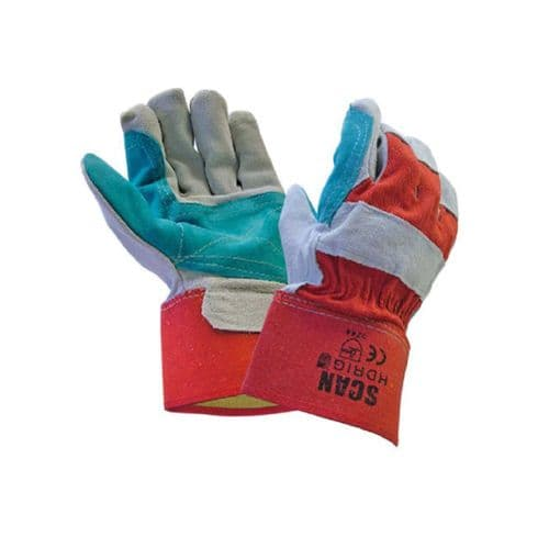 Scan SCAGLOHDRIG Heavy Duty Rigger Gloves Large