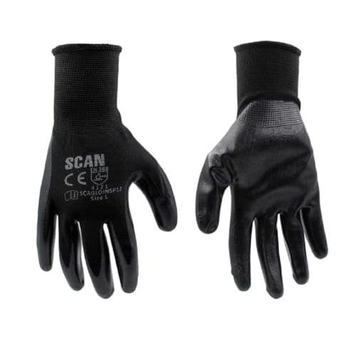 Scan SCAGLOINSP12 Seamless Inspection Gloves Large 12 Pack