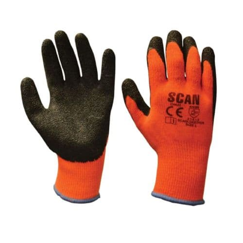 Scan SCAGLOKSTHER Thermal Latex Coated Gloves Large