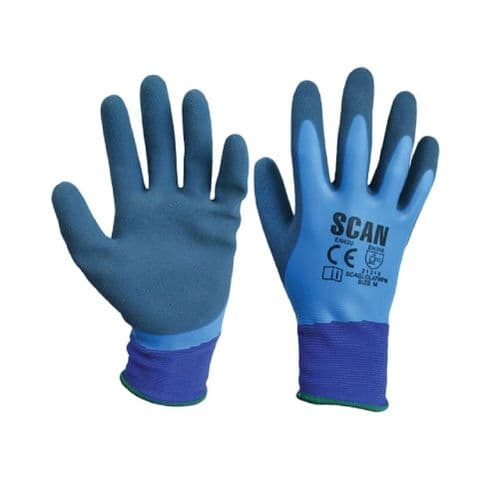 Scan SCAGLOLATWPX Waterproof Latex Gloves Extra Large