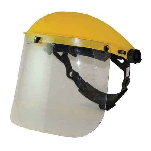 Silverline 140863 Polycarbonate Face Shield with Clear Visor