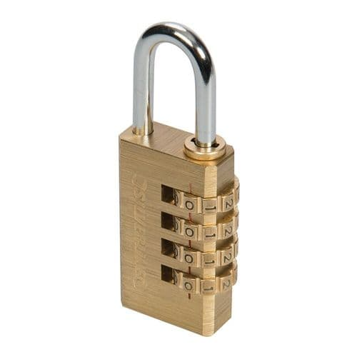 Silverline 360848 Brass Combination Padlock 4 Digit