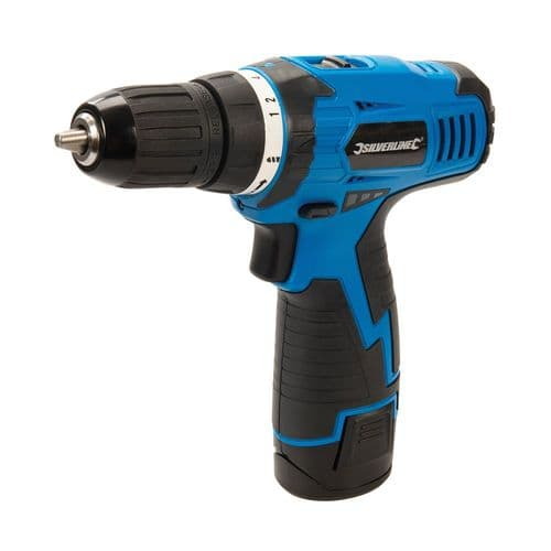 Silverline 521457 Drill Driver 10.8V 1.3Ah Li-ion Battery & Charger