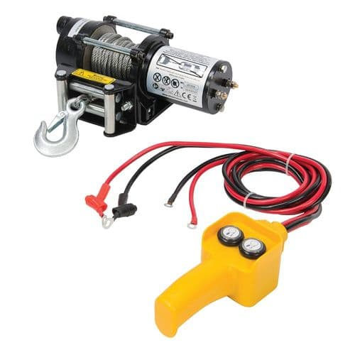 Silverline 748850 DIY 12V Electric Winch 900kg (2000lb)