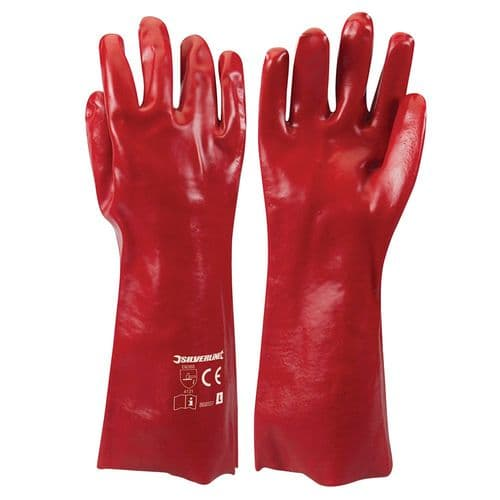 Silverline 868551 Red PVC Gauntlets