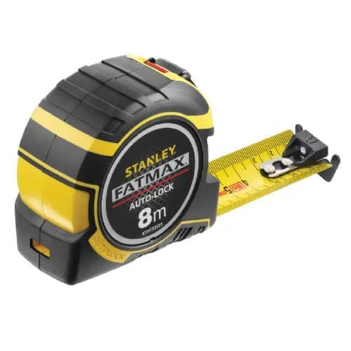 Stanley 033501 Fatmax Autolock Pocket Tape Measure Metric Only 8m (Width 32mm)