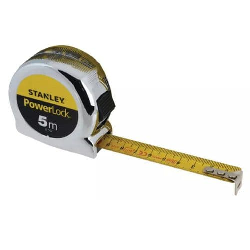 Stanley 033552 PowerLock Classic Pocket Tape Measure Metric Only 5m (Width 19mm)