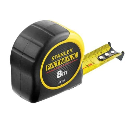 Stanley 033728 Fatmax BladeArmor Pocket Tape Measure Metric Only 8m (Width 32mm)