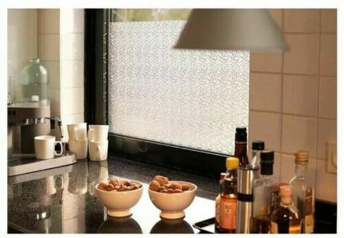 1.5m X 45cm FROSTED PRIVACY GLASS MIKADO STATIC CLING FROSTED ICE SELF ADHESIVE