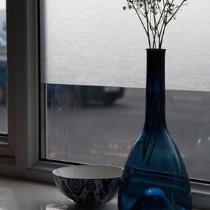 1.5m X 67cm D C FIX LYNN LINEN EFFECT FROSTED PRIVACY GLASS WINDOW STATIC CLING
