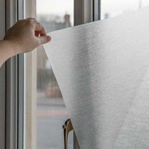 1.5m X 90cm D C FIX LYNN LINEN EFFECT FROSTED PRIVACY GLASS WINDOW STATIC CLING