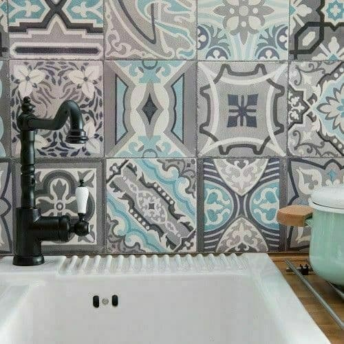 1m Up To 20m x 67.5cm Moroccan Tile Kitchen Bathroom Wallpaper Waterproof Dcwall