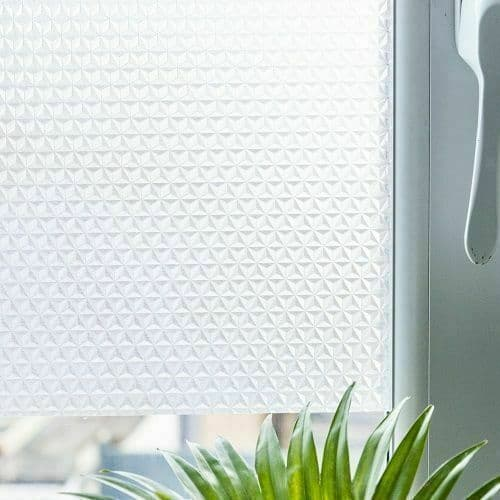 1M X 45CM D C FIX FROSTED HEX FROSTED GLASS STICKY BACK PLASTIC SELF ADHESIVE VINYL FILM
