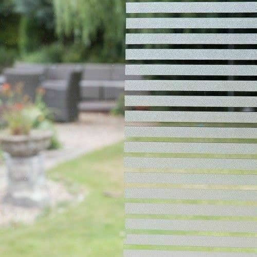 1m x 45cm Frosted Glass Clarity Stripes Self Adhesive High Quality Static Cling Film