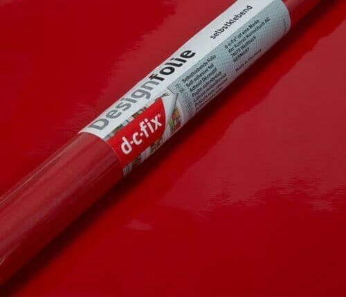 2.1m x 90cm Red Gloss Vinyl Film Wrap Sticky Back Plastic Self Adhesive D C Fix