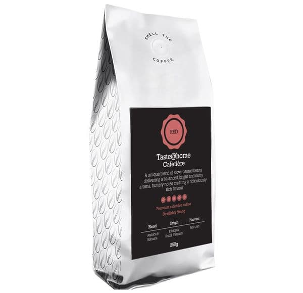 Cafetiere ground  devilishly strong coffee  250g