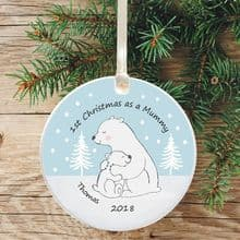1st Christmas as a Mummy Ceramic Keepsake Decoration - Polar Bear Design