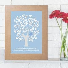 Baby Bird Christening Signature Tree - Unique Personalised Christening Keepsake - Guest Book Alternative