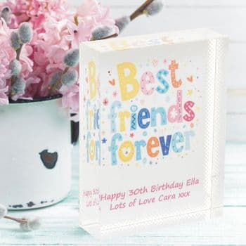 Best Friends Forever Crystal - Personalised Friendship Glass Gift