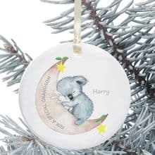 Ceramic Granddaughter/Grandson Keepsake Christmas Decoration - Koala Design