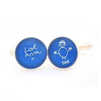 Child's Artwork Cufflinks - Cufflinks Displaying A Child's Drawing - Personalised Father's Day Gift