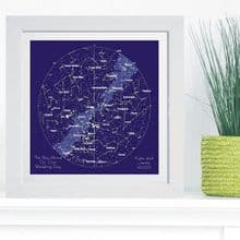 Constellation Star Chart in Box Frame - Ideal and Unique Wedding or 1st Anniversary Gift